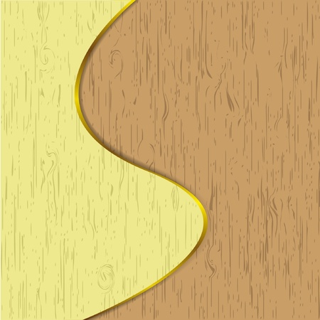Wooden artwork design by vector.  Illustration