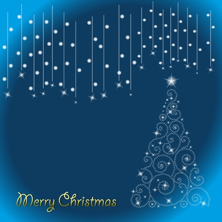 new year card: Abstract background in christmas tree. Illustration