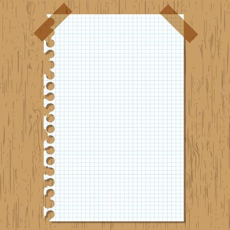 sticky note: Sticky paper graph on wooden board. Illustration