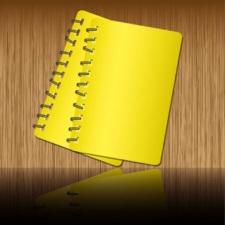 spiral notebook: Two notebook  shadow on wooden backgrounds.