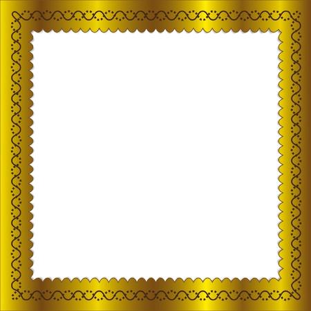 Cadre doré dans les régions isolées. Banque d'images - 11570723