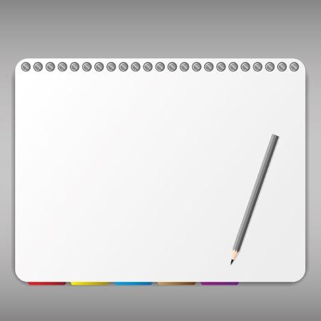 Potlood en bladwijzer in notebook. Stockfoto - 11659243