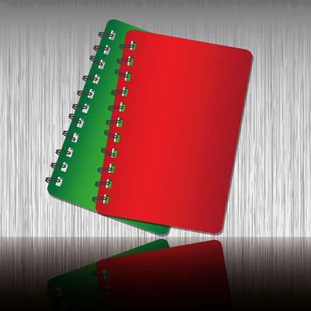 Red and Green two tone notebook Vector