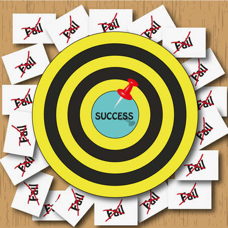 failed strategy: Success busineer idea Stock Photo