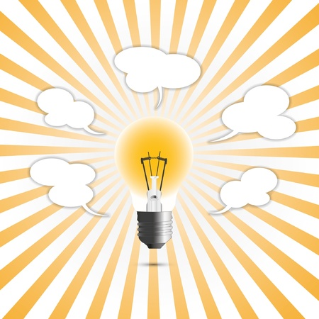 creative Ideas in concept the light. Illustration