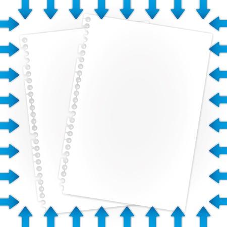 Archief documenten en pijlen grenzen. Stockfoto - 11804264