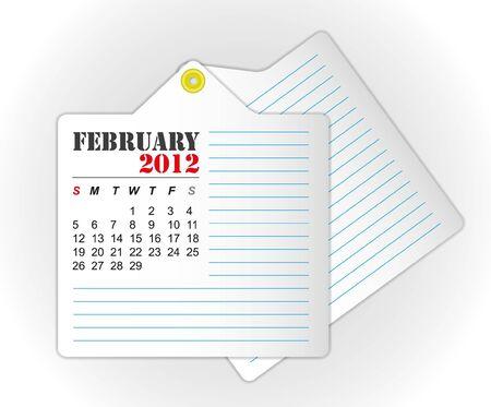 calendar 2012 February Stock Vector - 11804243
