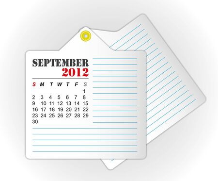 calendar 2012 September Stock Vector - 11804255