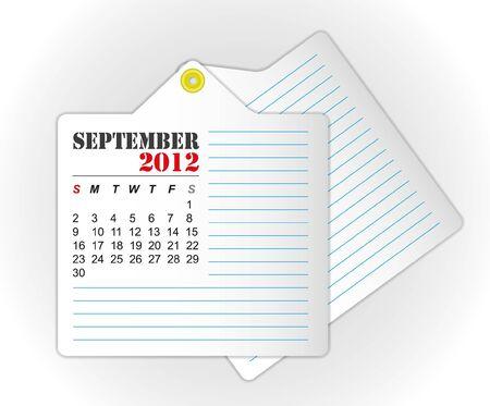 calendar 2012 September Stock Vector - 11804255