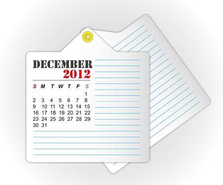 december: calendar 2012 December