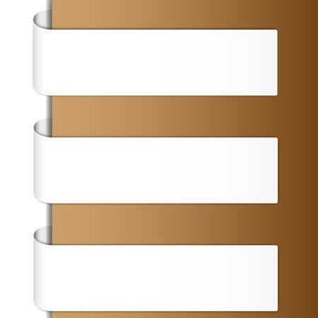 Classic brochure brown tone.