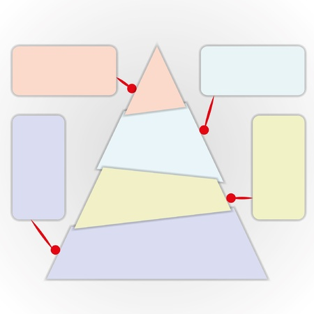 increase diagram: Power of thinking by triangle chart