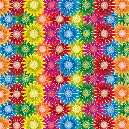 dazzlingly: Dazzlingly colorful flower backgrounds. Illustration