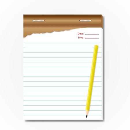 Tablet memo sheet for list. Stock Vector - 11804288