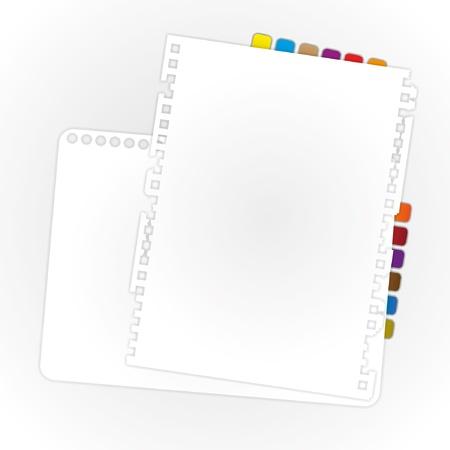 Blank paper sheet is overlaps. Illustration