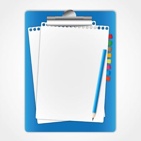 Nieuw vel papier op de clip boord en potlood. Stockfoto - 11804390