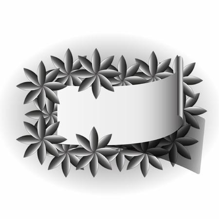 artwork: Artwork label floral patterns frame. Illustration
