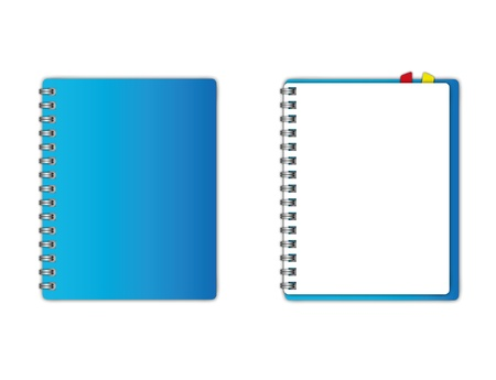 New Blue cover and blank page.