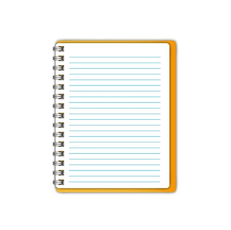New blank page paper sheet. Vector