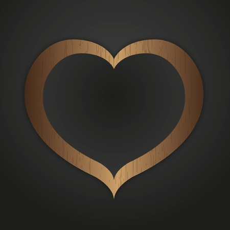 Heart pattern photo frame. Stock Vector - 11872298