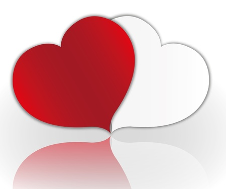 Sweet heart valentine day card. Illustration