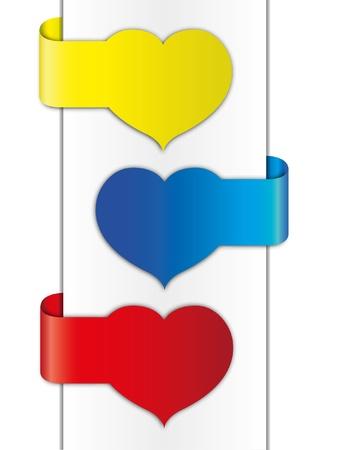 valentine brochure design. Illustration