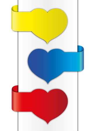 valentine brochure design. 向量圖像
