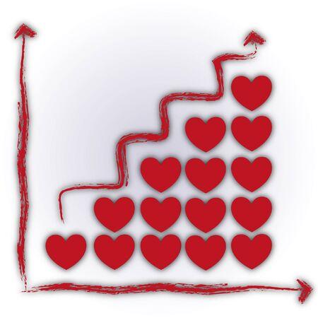 Valentine love business chart for teamwork Stock Photo - 11872893