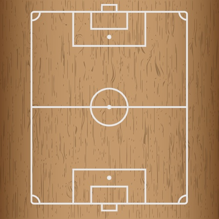 Wooden Stock  Soccer field. Vector