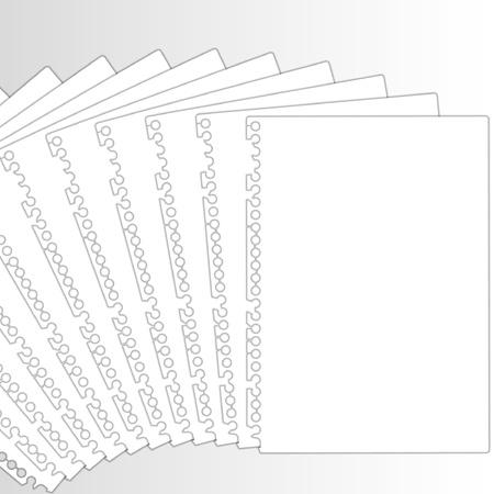 New documents in row. Stock Illustratie