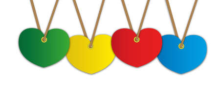 dangle: Artwork heart pattern advertise for label price tag and bundle keys.