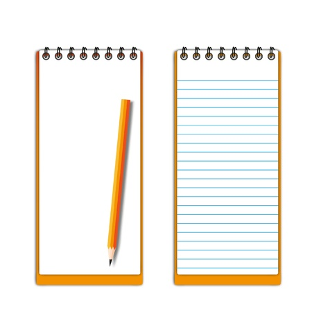 memorize: New pocketbook blank page with pencil.