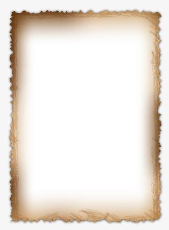 Clásica y original página de papel antiguo. Ilustración de vector