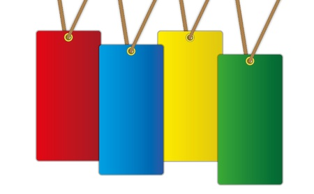 dangle: The new colorful label price tag. Illustration
