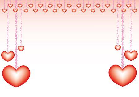 valentijn kaart met lieve hartjes concept.