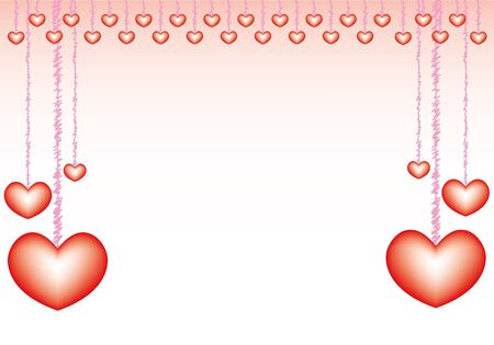 valentine card with sweet hearts concept. Vector