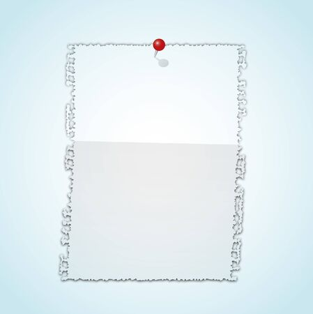 Torn paper pad with pin. Stock Vector - 12035633