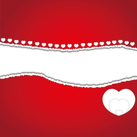 New pattern abstract love heart valentines red card. Vector
