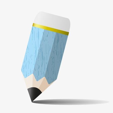 tippek: Single kék ceruzával az írás és rajz. Illusztráció
