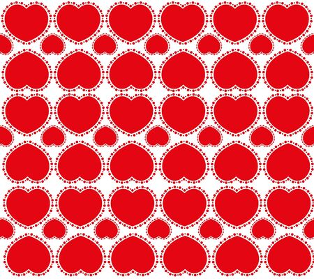 Sweet red hearts valentines day and card background.