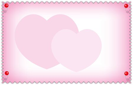Valentine and wedding card sweet hearts pink on abstract background. photo