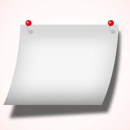 pad: The Sticky note pad push with two red pin. Stock Photo