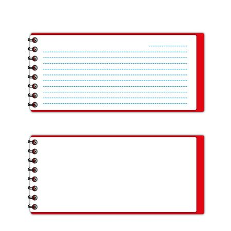 New pattern red cover pocketbook space and lines papers.  Stock Photo - 12350119