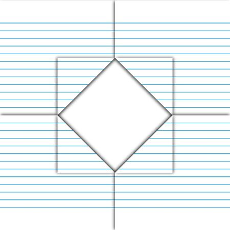 Paper sheet fold and drill by square pattern. Stock Photo - 12350153