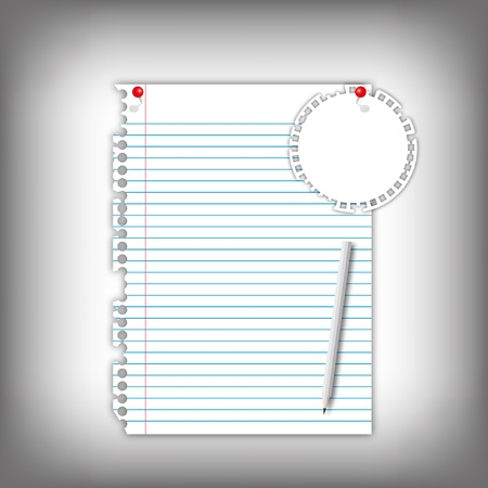 Paper sheet page with note pad and pencil. Stock Photo - 12350173