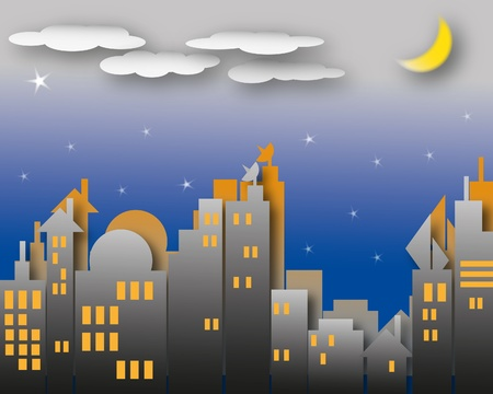cloudy night sky: Dark night scene with the moon and cloudy sky much more star.  Stock Photo