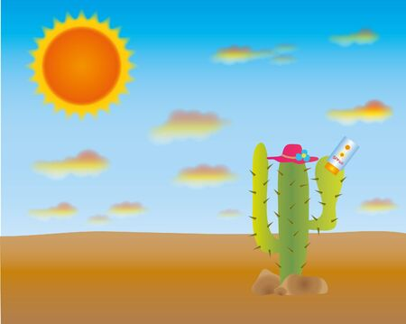 Even the cactus is very hot so safe earth safe life.