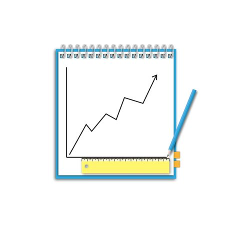 Note paper with pencil and good target business chart. Stock Photo - 12350182