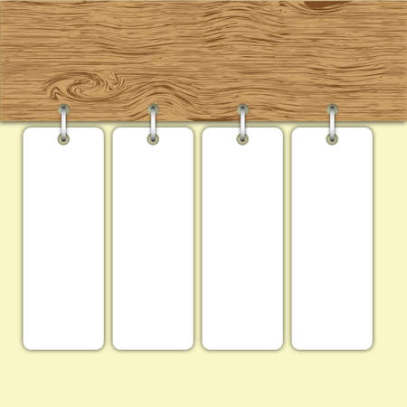 business card: Original pattern Price Tag label hang on wood board  Stock Photo