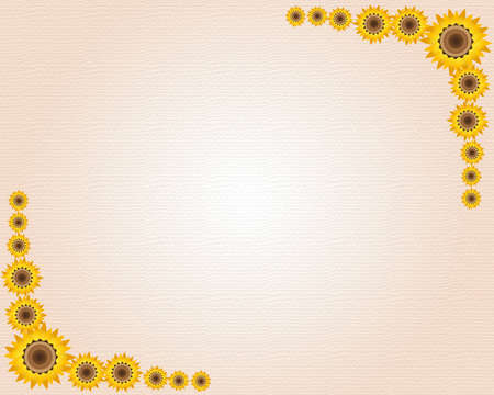 place card: Color sunflower with textured card   Stock Photo